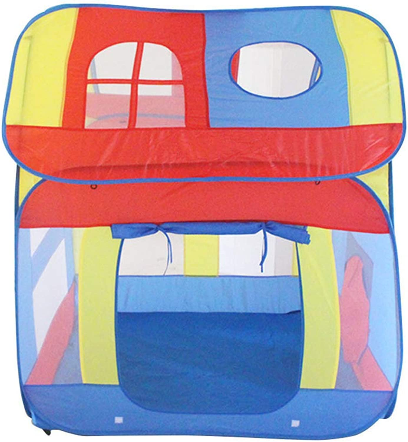 MagiDeal Multicolor Pop Up Playhouse for Kids Indoor Outdoor Use with Carrying Case