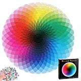 1000pcs / Set Resplandor Degradado Rompecabezas, Colorido Redondo Geométrico Círculo Rompecabezas Educativo Arco Iris Puzzle Paleta Intelectual Y Juego De Alivio De Estrés Para Niños Adultos (A)