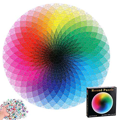 1000pcs / Set Resplandor Degradado Rompecabezas, Colorido Re