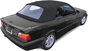 Fits: BMW 3-series Convertible Top with Plastic Window 1994-99 E36 in Black Twill Vinyl