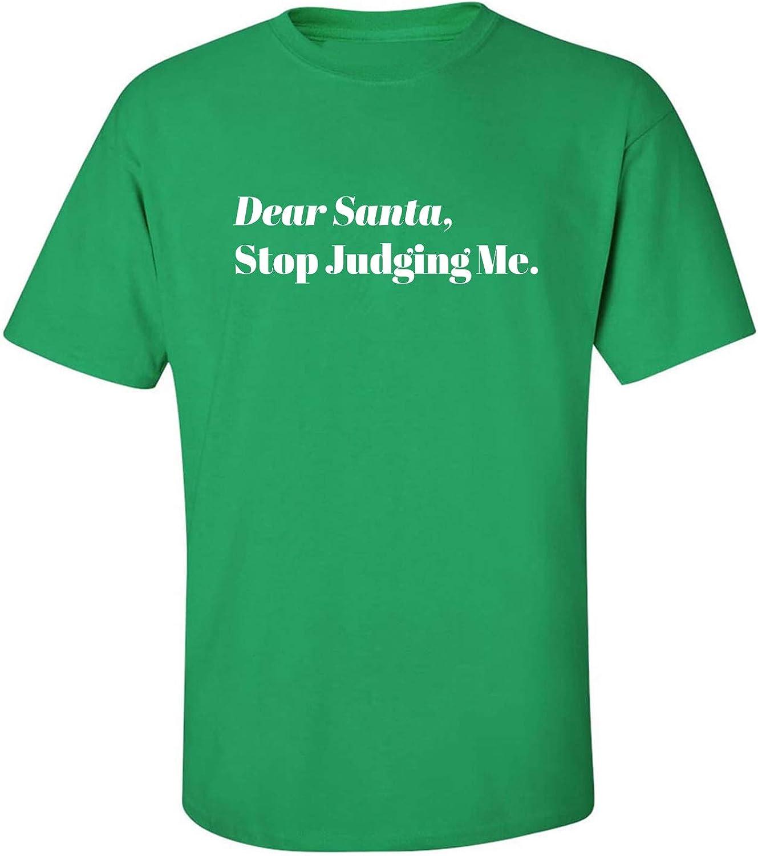 Dear Santa, Stop Judging Me. Adult T-Shirt in Kelly Green - XXX-Large