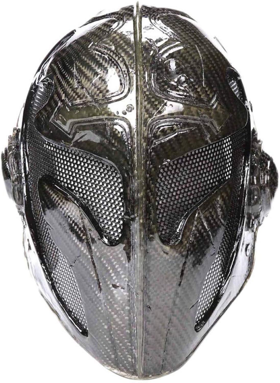 Carbon Fiber Cross King Mask Movie Props Halloween Costume Ball Templar Mask