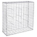 SONGMICS Gabion pour Pierres 100 x 95 x 30 cm Gabions Métalliques Déco Jardin Cage réticulé 5x10cm Diamètre Fil de Fer 4 mm GGB193