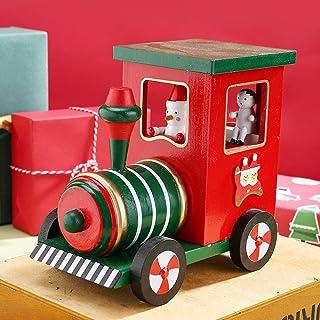 Lucy Legno Decorazione Regalo di Natale for Il Desktop Ornamenti Locomotiva Movement Music Box Clockwork Shop Atmosfera 17...