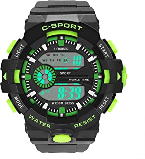 Digital Watches for Men DYTA LED Sport Wrist Watches 5ATM Water Resistant Outdoor Watch Military Quartz