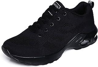 ZPAWDH Femme Air Baskets Chaussures de Sports Outdoor Shock Absorbing Running Fitness Léger Sneakers
