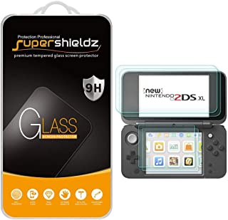 (2 Pack) Supershieldz for Nintendo 2DS XL Screen Protector (2 Tempered Glass Top and 2 PET Bottom) Anti Scratch, Bubble Free