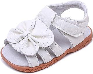 Gaatpot Fille Cuir Souple Sandales Enfants confortables Flexibles Sandales à Bout Ouvert Beach Sandales Chaussure Été