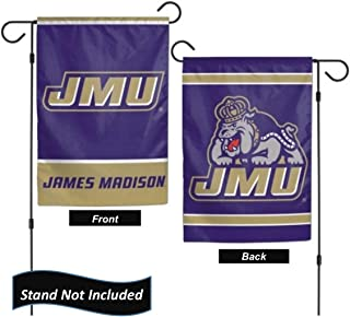 """James Madison Dukes 12.5"""" x 18"""" Double Sided Yard and Garden College Banner Flag is Printed in The USA,"""