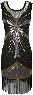 Whitewed Beaded Sequin Fringe 1920`s 20s Themed Party Dresses Clothing Costumes