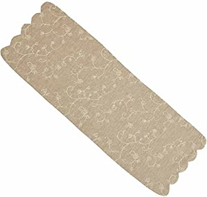 Home collection by Raghu Candlewicking Table Runner, 14 by 36-Inch, Taupe