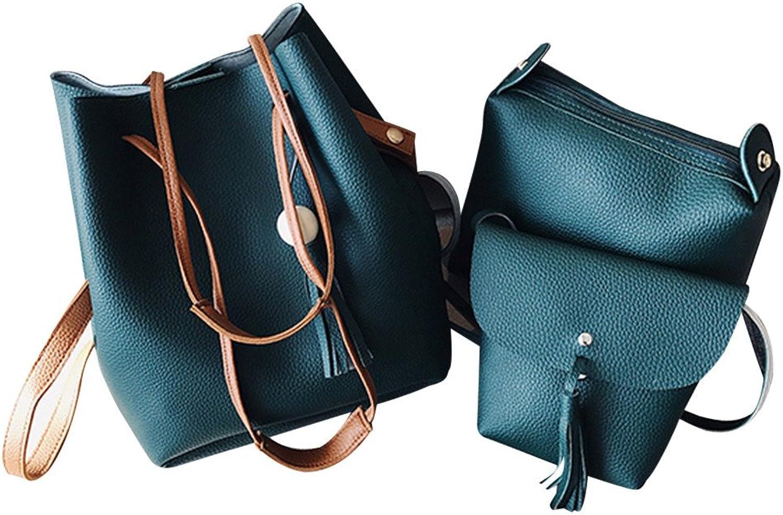 bdb0f3b82146 Women's Hurrybuy Bag Crossbody Leather PU Handbag Tote 4pcs Bags ...