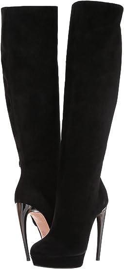 Alexander McQueen - Horn Heel Slouchy Boot