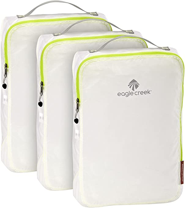 Eagle Creek Pack-it Specter Cube Set - 3pc Set (Medium), White/Strobe (White) - EC0A2V8X002