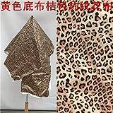 Meterware als Dekostoff- Gelbes Grundtuch Orange Leopard