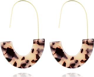 Acrylic Earrings Statement Turquoise Earrings Resin Drop Dangle Earrings Fashion Jewelry For Women