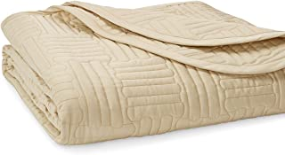 Hotel Sweet Hotel Pratesi Up and Down Collection Queen Sateen Cotton Quilt Gold Made In Italy