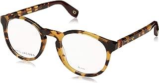 Marc Jacobs Marc 352 SCL Yellow Havana Plastic Round Eyeglasses 49mm