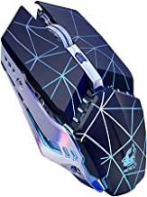 FAgdsyigao Free Wolf X11 Ergonomic Wireless Mouse, 2.4G 2400DPI Optical Gaming Mouse for Laptop Computer Star Black