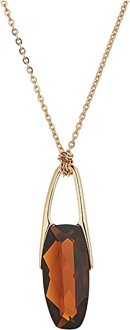 Robert Lee Morris - Topaz and Gold Long Pendant Necklace