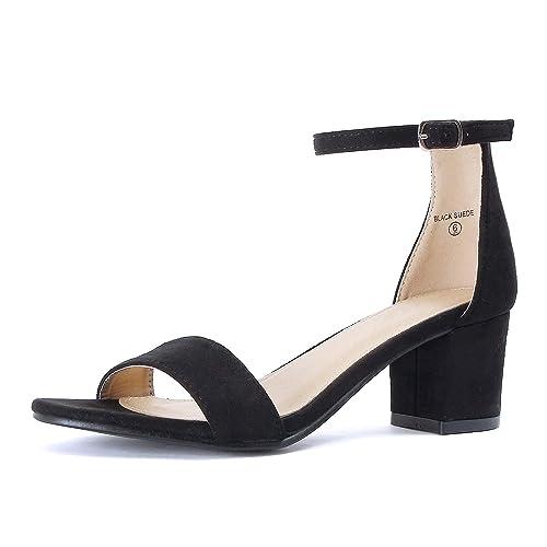 5d851bf2f1e8 Low Black Heels  Amazon.com