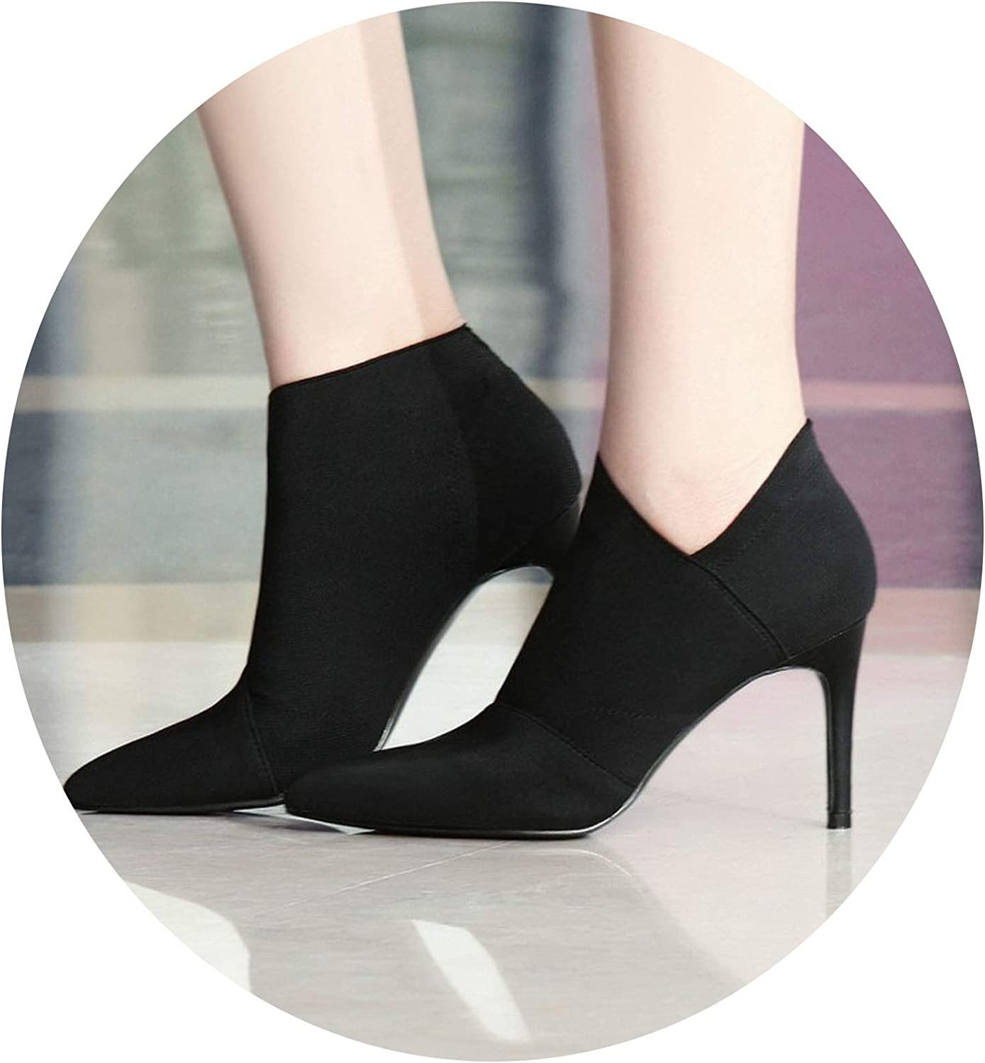 HANBINGPO Sexy Pointed Toe High Heels Women shoes Women Autumn Summer Casual Fitted Female Single Outwear