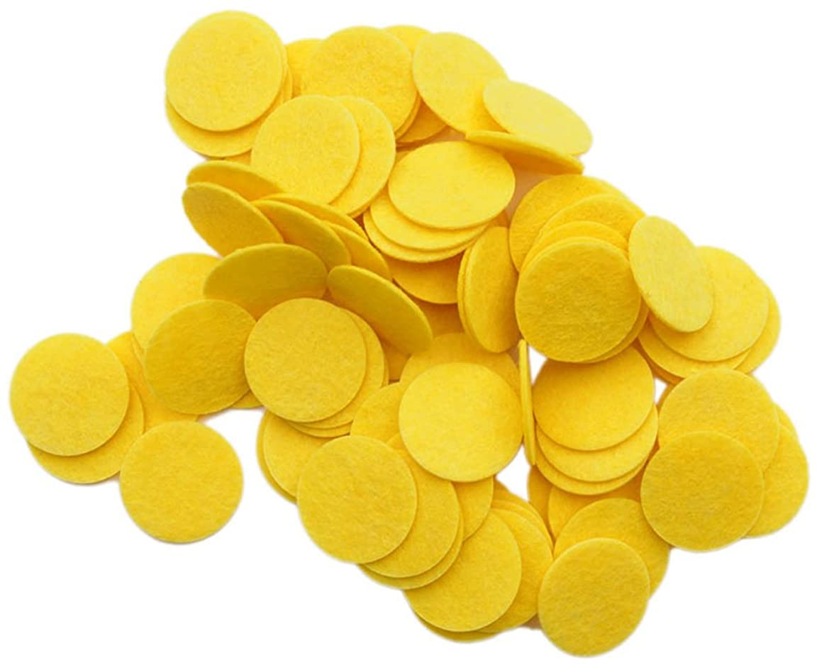Playfully Ever After 1 Inch Yellow 100pc Stiff Felt Circles