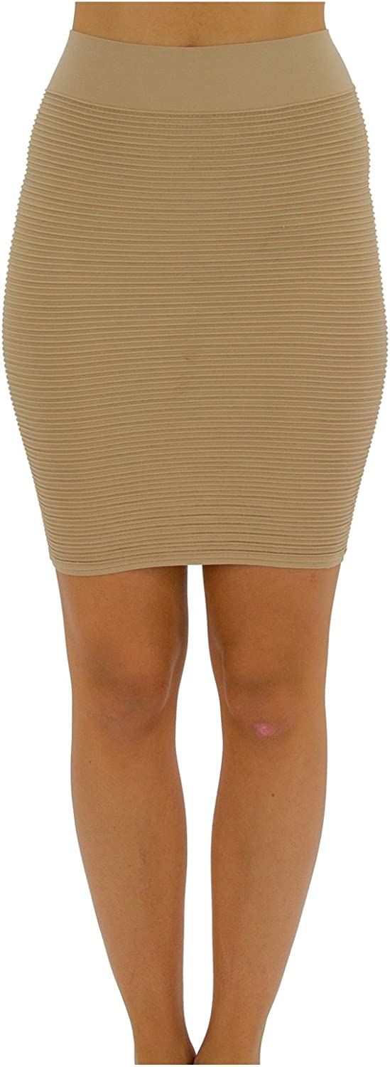 TD Collections Bandage Bodycon Mini Knit Basic Stretch Short Pencil Skirt Thin LINE Skirt