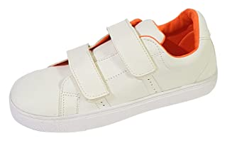 Skippy Velcro Strap Round Toe Sneakers for Girls - White, 35 EU
