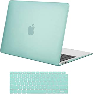 MOSISO MacBook Air 13 inch Case 2019 2018 Release A1932 with Retina Display, Plastic Hard Shell Case & Keyboard Cover Skin Only Compatible with MacBook Air 13 with Touch ID, Mint Green