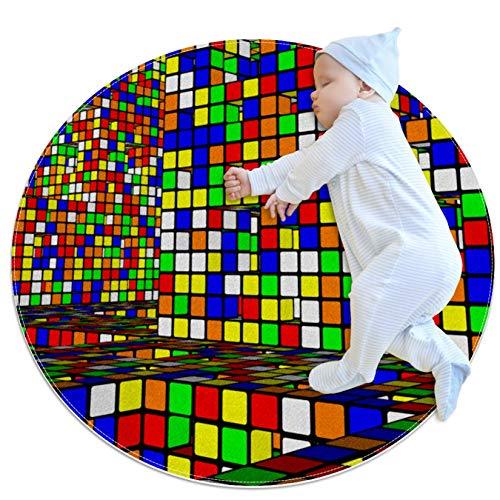 LKJDF Rubik's Cube - Alfombrillas antideslizantes para niños