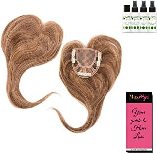 Add-On Crown Topper Color MEDIUM BROWN - Envy Wigs 12