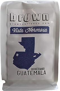 Guatemala Coffee, Whole Bean, Fresh Roasted, Medium/Light Roast, Single Origin, Specialty Grade 100% Arabica Coffee, 10-Ounce Bag - Finca Vista Hermosa, Huehuetenango, Guatemala - Brown Coffee Company