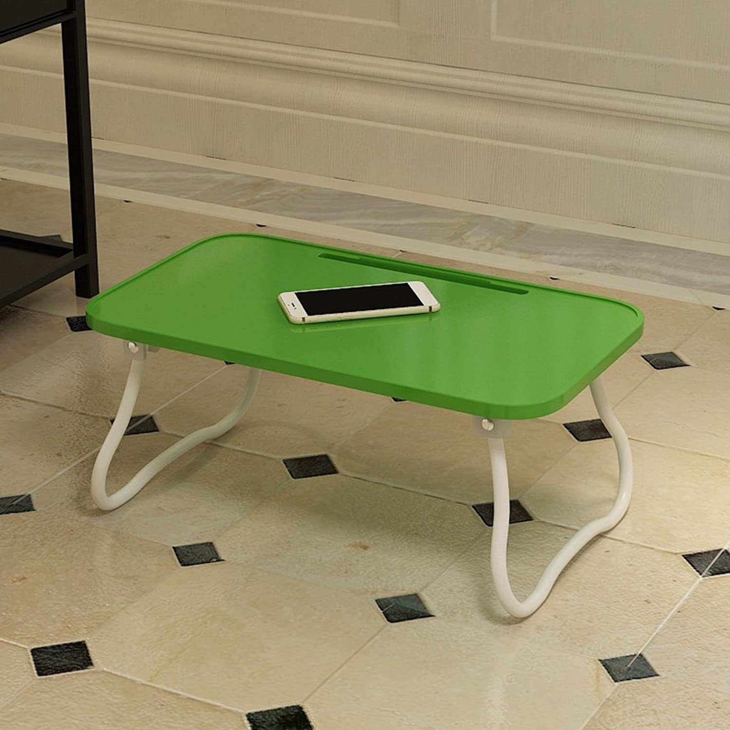 Home Dining Table Coffee Table White Green Yellow Black Rectangular Table  L54cm W 31cm  H23cm Multifunctional Learning Small Desk (color   Green)