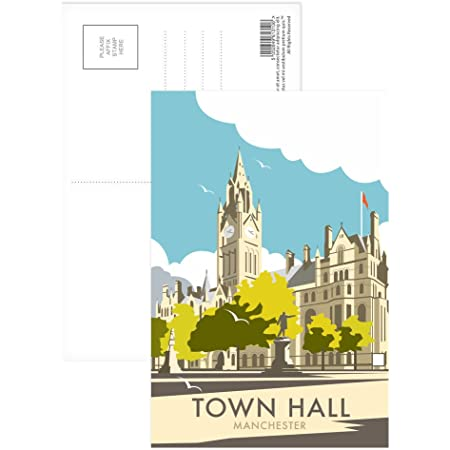 Manchester University Postcard Art247 Pack of 8 - 6x4 inch