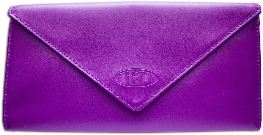 Big Skinny Slimvelope Leather Tri-Fold Checkbook Slim Wallet