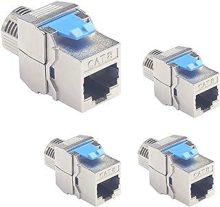 AAOTOKK 90 Grados HDMI Keystone Adaptador HDMI Keystone Hembra a Hembra para Full HD 1080p Negro//2 Unidades 3D 60 Hz Adaptador para Montaje con Hebilla Placa de Pared Panel de Enchufes