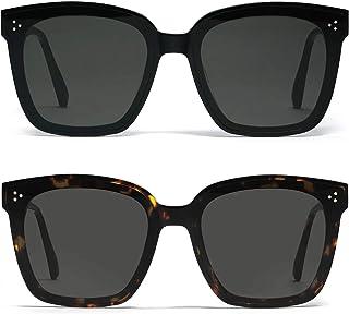 MUAMUA Fashion Polarized Sunglasses Oversized Women Men Square Sun Glasses Big Shades UV Protection
