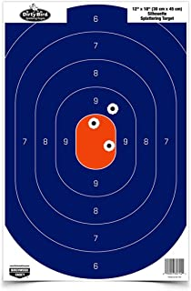 Birchwood Casey Dirty Bird Silhouette Target (Per 8), Blue/Orange, 12 x 18-Inch