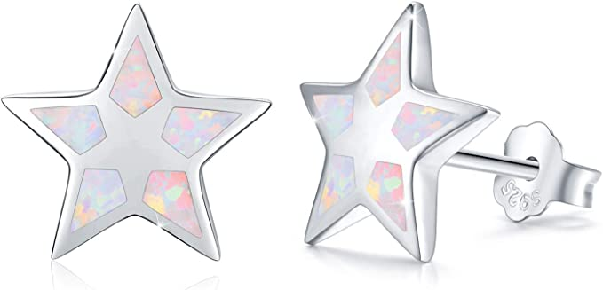 4. Hypoallergenic Synthetic Opal Star