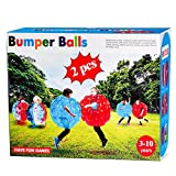 SUNSHINE-MALL Inflatable Bubble Balls for Kids,Inflatable Buddy Bumper Balls Sumo Game,Giant Human Hamster Knocker Ball Body Zorb Ball for Child Outdoor Team Gaming Play for 6-50 Ages. (red +Blue)