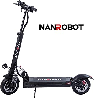 NANROBOT D5+ Powerful Electric Scooter with 2000W Motor Power Allow for 40 MPH Speed, 50 Miles Rang and 330Lb Load