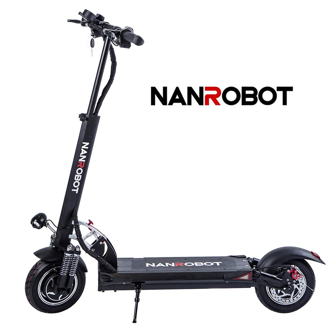 NANROBOT D5+ Powerful Electric Scooter with 2000W Motor Power Allow for 40 MPH Speed, 50 Miles Rang and 330Lb Load (D5+2.0)