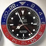 replica Rolex 35mm de Pared GMT II Master Pepsi Metal Movimiento silencioso + 2CD Audio
