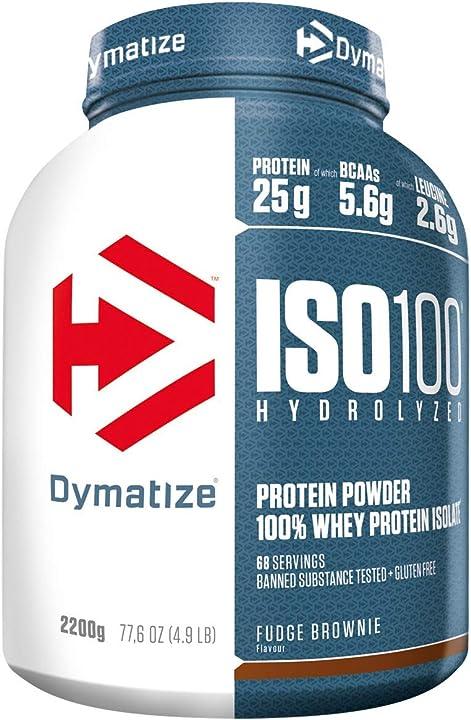 Proteine isolate - dymatize iso 100 truffo brownie 2,2kg , per prima e dopo l`allenamento - 2200 g 25196601
