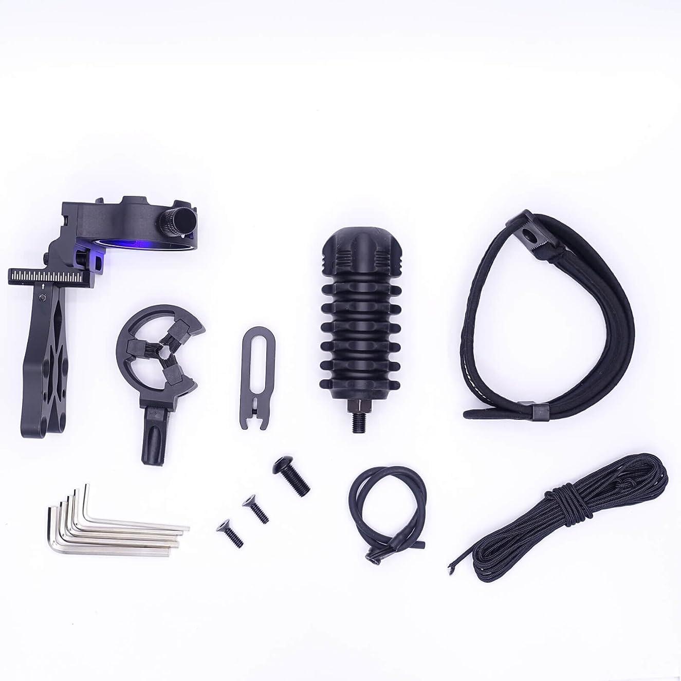 Mandarin Duck Compound Bow Upgrade Combo Kit Black Sight Arrow Rest Stabilizer Slight