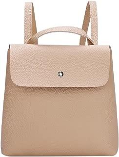 Everpert Simple Women Pu Leather Hasp Shoulder Handbags Pure Casual Backpacks/Red