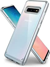 Spigen [Ultra Hybrid] Galaxy S10 Case Cover with Clear Hybrid Drop Protection Designed for Galaxy S10 (2019) - Crystal Clear