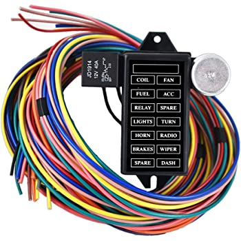 [ZHKZ_3066]  Amazon.com: labwork-parts New 14 Circuit Fuse Universal Wire Harness Muscle  Car Hot Rod Street Rat XL: Automotive | Hot Rod Wiring Harness |  | Amazon.com