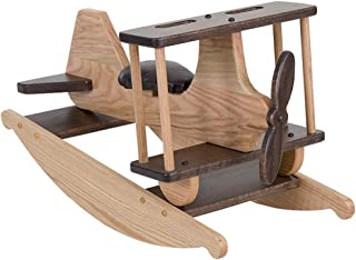 Peaceful Classics Amish Made Solid Oak Wood Children's Airplane